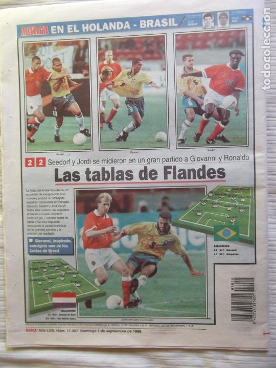 Coleccionismo deportivo: MARCA-1996-Nº17407-44 PAG-TOSHACK-CAPELLO-ROBERTO CARLOS-BODO ILLGNER-ROBSON-ROMARIO-ARAGONES-CAMINE - Foto 19 - 23618613