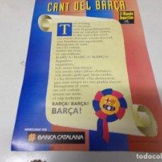 Coleccionismo deportivo: CANT DEL BARÇA - F. C. BARCELONA. Lote 210599156