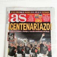 Coleccionismo deportivo: AS: EL VALENCIA C.F. GANA LA COPA DEL REY 2019. Lote 210627426