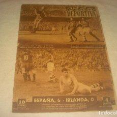 Coleccionismo deportivo: VIDA DEPORTIVA N. 351 . JUNIO 1952 . ESPAÑA 6, IRLANDA 0.. Lote 210792621