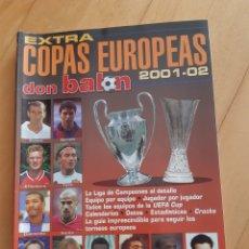 Coleccionismo deportivo: DON BALÓN EXTRA COPAS EUROPEAS 2001-2002. Lote 210834710