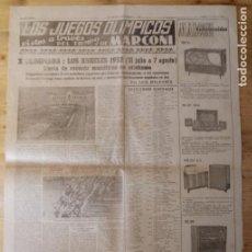 Coleccionismo deportivo: HOJA LOS JUEGOS OLÍMPICOS - X OLIMPIADA LOS ÁNGELES 1932 - PUBLICIDAD MARCONI. Lote 211745321