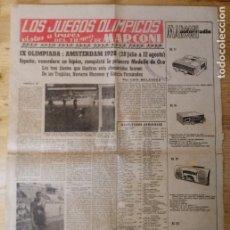 Coleccionismo deportivo: HOJA LOS JUEGOS OLÍMPICOS - IX OLIMPIADA AMSTERDAM 1928 - PUBLICIDAD MARCONI. Lote 211745417