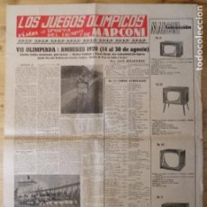 Coleccionismo deportivo: HOJA LOS JUEGOS OLÍMPICOS - VII OLIMPIADA AMBERES 1920 - PUBLICIDAD MARCONI. Lote 211745547