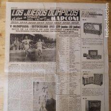 Coleccionismo deportivo: HOJA LOS JUEGOS OLÍMPICOS - V OLIMPIADA ESTOCOLMO 1912 - PUBLICIDAD MARCONI. Lote 211745834