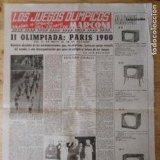 Coleccionismo deportivo: HOJA LOS JUEGOS OLÍMPICOS - II OLIMPIADA PARÍS 1900 - PUBLICIDAD MARCONI. Lote 211746548