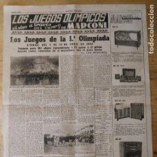 Coleccionismo deportivo: HOJA LOS JUEGOS OLÍMPICOS - 1ª OLIMPIADA ATENAS 1896 - PUBLICIDAD MARCONI. Lote 211746927