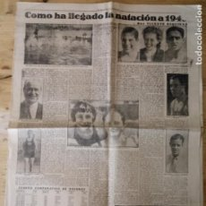 Coleccionismo deportivo: HOJA MUNDO DEPORTIVO - NATACIÓN 1940 - CICLISMO - HOCKEY - WATER-POLO - BALON A MANO. Lote 211771755