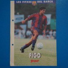 Coleccionismo deportivo: LAMINA DE FUTBOL FIGO DEL F.C.BARCELONA DE DIARIO SPORT. Lote 211874306