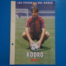 Coleccionismo deportivo: LAMINA DE FUTBOL KODRO DEL F.C.BARCELONA DE DIARIO SPORT. Lote 211874398