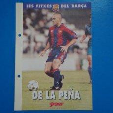 Coleccionismo deportivo: LAMINA DE FUTBOL DE LA PEÑA DEL F.C.BARCELONA DE DIARIO SPORT. Lote 211874505