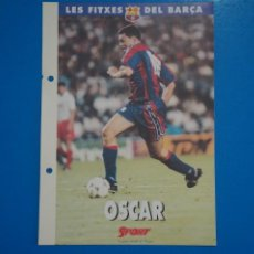 Coleccionismo deportivo: LAMINA DE FUTBOL OSCAR DEL F.C.BARCELONA DE DIARIO SPORT. Lote 211874530