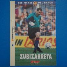 Coleccionismo deportivo: LAMINA DE FUTBOL ZUBIZARRETA DEL F.C.BARCELONA DE DIARIO SPORT. Lote 211875535