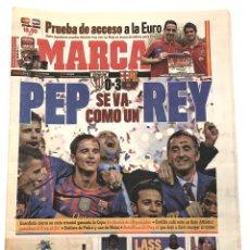 Coleccionismo deportivo: FINAL COPA DEL REY 2012 FC BARCELONA ATHLETIC CLUB BILBAO DIARIO MARCA 28 MAYO 2012 GUARDIOLA. Lote 211884936