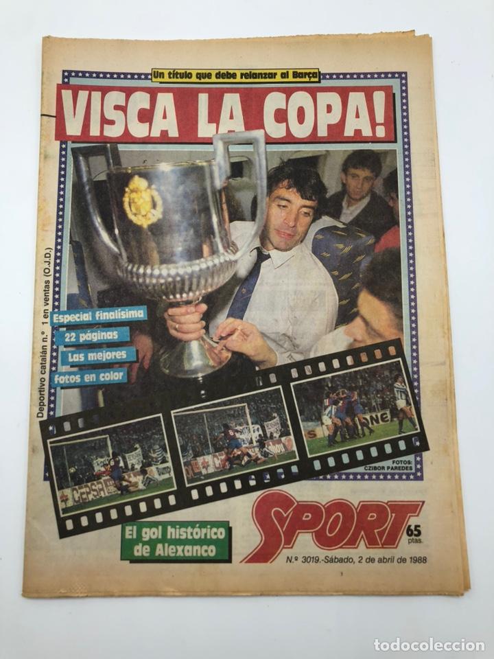 DIARIO SPORT ESPECIAL FINAL COPA DEL REY 1988 FC BARCELONA REAL SOCIEDAD BARÇA CAMPEON 2 ABRIL (Coleccionismo Deportivo - Revistas y Periódicos - Sport)
