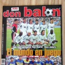 Coleccionismo deportivo: DON BALÓN 1310 EL MUNDO EN JUEGO COPA INTERCONTINENTAL 2000 REAL MADRID BOCA JUNIORS PÓSTER VALENCIA. Lote 212244635