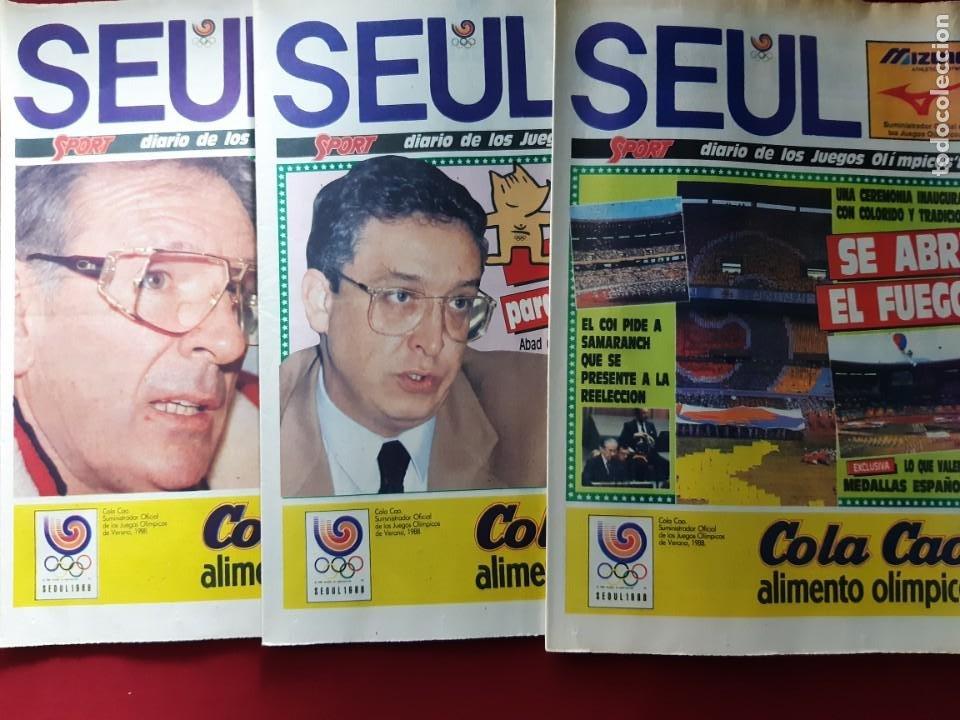 Coleccionismo deportivo: Sport Diario de los Juegos Olimpicos Seúl 88 13 Ejemplares - Foto 3 - 212250127