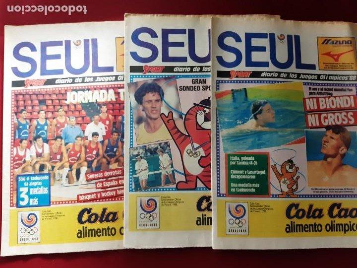 Coleccionismo deportivo: Sport Diario de los Juegos Olimpicos Seúl 88 13 Ejemplares - Foto 4 - 212250127