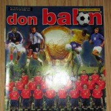 Coleccionismo deportivo: REVISTA DON BALON Nº 1389 - APÉNDICE EXTRA MUNDIAL KOREA-JAPON 2002 BRASIL SELECCION CALATUÑA. Lote 212313837
