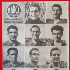 Collectionnisme sportif: REVISTA DIARIO MARCA FUTBOL VALENCIA CF CAMPEON DE LIGA 1942 ORIGINAL. Lote 212414846