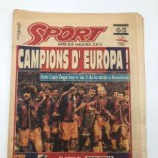 Colecionismo desportivo: DIARIO SPORT FINAL COPA DE EUROPA FC BARCELONA SAMPDORIA WEMBLEY 92 BARÇA CAMPEÓN 21 MAYO 1992 4496. Lote 212544253