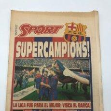 Colecionismo desportivo: DIARIO SPORT FC BARCELONA BARÇA CAMPEÓN LIGA 91-92 TENERIFE 8 JUNIO 1992. Lote 212545228