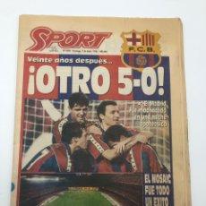 Colecionismo desportivo: DIARIO SPORT FC BARCELONA REAL MADRID 5-0 LIGA 93-94 9 ENERO 1994 MANITA BARÇA.. Lote 212545955