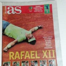 Coleccionismo deportivo: AS RAFAEL NADAL GANA SU DUODECIMO ROLAND GARROS. Lote 212666503