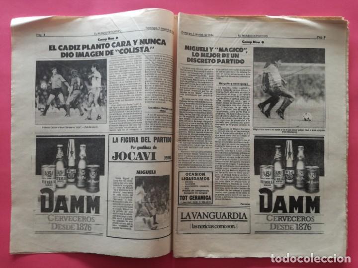 Coleccionismo deportivo: DIARIO EL MUNDO DEPORTIVO 1984 - BARÇA CADIZ LIGA 83/84 - MAGICO GONZALEZ - CASTEL - NEESKENS - Foto 3 - 212682950