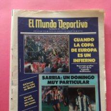 Coleccionismo deportivo: DIARIO EL MUNDO DEPORTIVO 1985 - TRAGEDIA HEYSEL FINAL LIVERPOOL JUVENTUS - MICHEL - CF LLORET. Lote 212683613