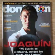 Coleccionismo deportivo: DON BALON - MAYO DE 2004 - Nº 1492 - CON POSTER DE POSTER DE ETO'O MALLORCA JOAQUIN INFORME BARÇA. Lote 212705543