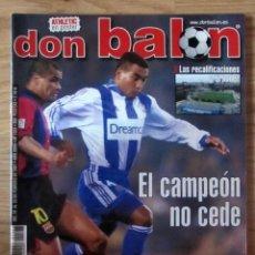 Collectionnisme sportif: DON BALON, AÑO XXVI, Nº 1323, 2001, POSTER DEL ATHLETIC BILBAO. Lote 212992381