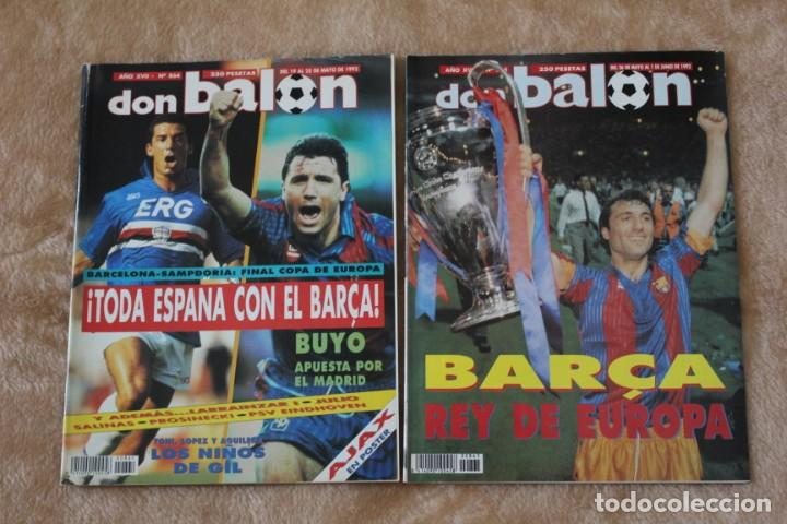 REVISTA DON BALÓN. Nº 864 Y 865. CAMPEÓN BARCELONA. PRIMERA COPA DE EUROPA (1992) (Coleccionismo Deportivo - Revistas y Periódicos - Don Balón)