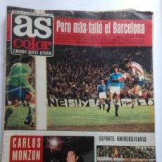 Coleccionismo deportivo: DIARIO AS COLOR Nº89 30 ENERO 1973 -BARCELONA -CARLOS MONZON -ARAQUISTAIN + POSTER ESPAÑA EN ATENAS. Lote 213584755