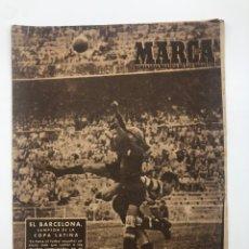 Collectionnisme sportif: DIARIO MARCA FC BARCELONA CAMPEÓN DE LA COPA LATINA SPORTING LISBOA 1949. Lote 213644402