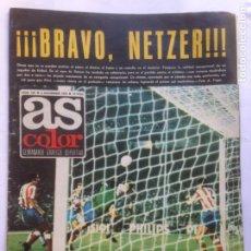 Coleccionismo deportivo: DIARIO AS COLOR Nº129 6NOV 1973 - NETZER - FRED GALIANA- MANOLO MEANA- POSTER CD MALAGA- EUSEBIO. Lote 213828150