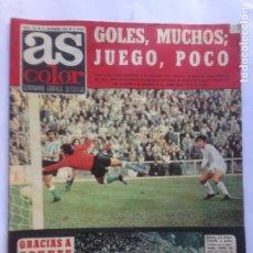 Coleccionismo deportivo: DIARIO AS COLOR Nº134 - CRUYFF- NINU BUSCATO- GERMAN GOMEZ -POSTER RCD ESPAÑOL- ROSA DE ALBA. Lote 213828198