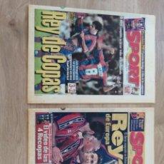 Coleccionismo deportivo: DIARIO SPORT 6300 Y 6345 F. C. BARCELONA CAMPEÓN COPA DEL REY Y RECOPA DE EUROPA 96/97 1997. Lote 213858961