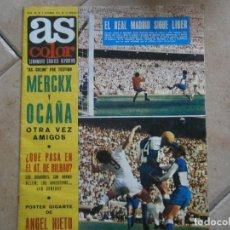 Coleccionismo deportivo: ¡¡ AS ¡¡ COLOR SEMANARIO,GRAFICO,DEPORTIVO,N 20,,DE 1971 ,UNICA EN TC,VER FOTOS,REAL MADRID.Y,ZZZ. Lote 213874617
