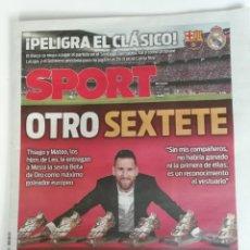 Coleccionismo deportivo: SPORT MESSI GANA SU SEXTA BOTA DE ORO. Lote 214070711