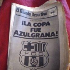 Coleccionismo deportivo: PERIÓDICO MUNDO DEPORTIVO 1988. COPA F.C. BARCELONA.. Lote 214115513