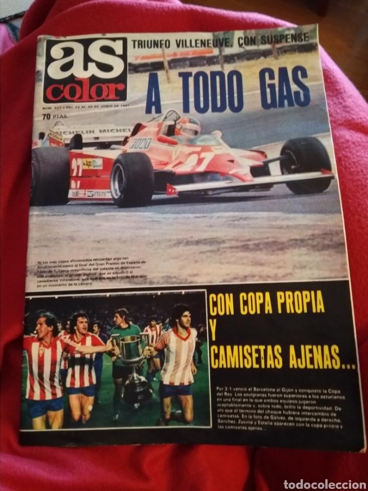 AS COLOR. SEMANARIO DEPORTIVO 1981. FALTAN 4 PÁGINAS (27,28,29,30) (Coleccionismo Deportivo - Revistas y Periódicos - As)