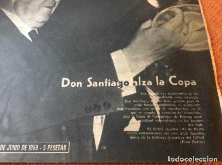 Coleccionismo deportivo: MARCA - Nº 862 - 9 JUNIO 1959 - D. SANTIAGO BERNABEU ALZA LA CUARTA COPA DE EUROPA CONSECUTIVA - Foto 2 - 214960323