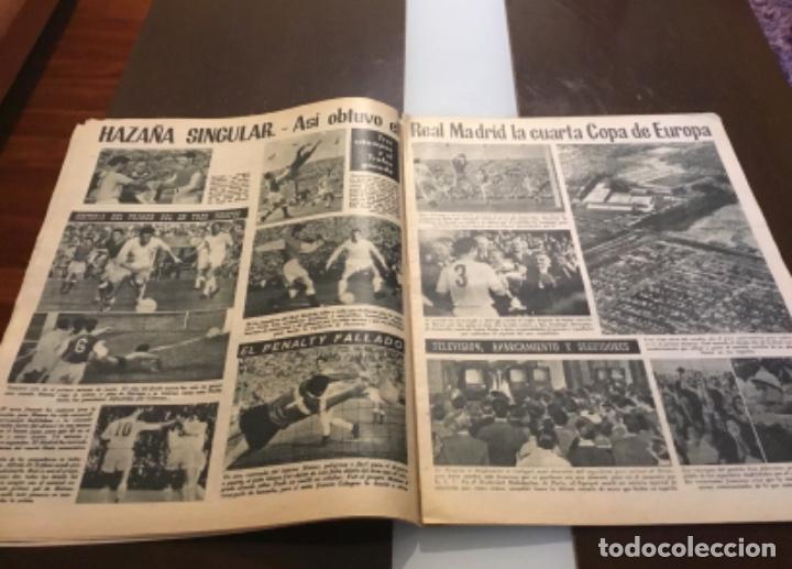 Coleccionismo deportivo: MARCA - Nº 862 - 9 JUNIO 1959 - D. SANTIAGO BERNABEU ALZA LA CUARTA COPA DE EUROPA CONSECUTIVA - Foto 3 - 214960323