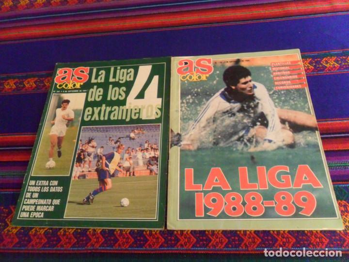 AS COLOR Nº 136 GUÍA DE LA LIGA 1988 89. REGALO Nº 291 GUÍA DE LA LIGA 1991 92. BUEN ESTADO. (Coleccionismo Deportivo - Revistas y Periódicos - As)