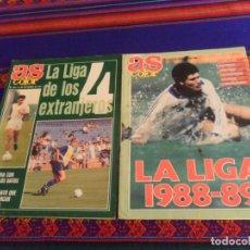Coleccionismo deportivo: AS COLOR Nº 136 GUÍA DE LA LIGA 1988 89. REGALO Nº 291 GUÍA DE LA LIGA 1991 92. BUEN ESTADO.. Lote 215095601