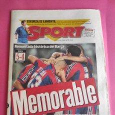 Coleccionismo deportivo: DIARIO SPORT BARÇA REMONTADA HISTORICA COPA DEL REY 96/97 FC BARCELONA 1996-1997 ATLETICO DE MADRID. Lote 215342211