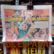 Coleccionismo deportivo: AS.PORTADA ESPAÑA GANA MUNDIAL DE FUTBOL 2010. Lote 215410888