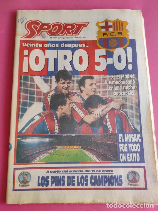 DIARIO SPORT BARÇA 5-0 REAL MADRID - MANITA LIGA FUTBOL 93/94 - FC BARCELONA 1993/1994 (Coleccionismo Deportivo - Revistas y Periódicos - Sport)