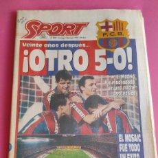 Coleccionismo deportivo: DIARIO SPORT BARÇA 5-0 REAL MADRID - MANITA LIGA FUTBOL 93/94 - FC BARCELONA 1993/1994. Lote 215501921